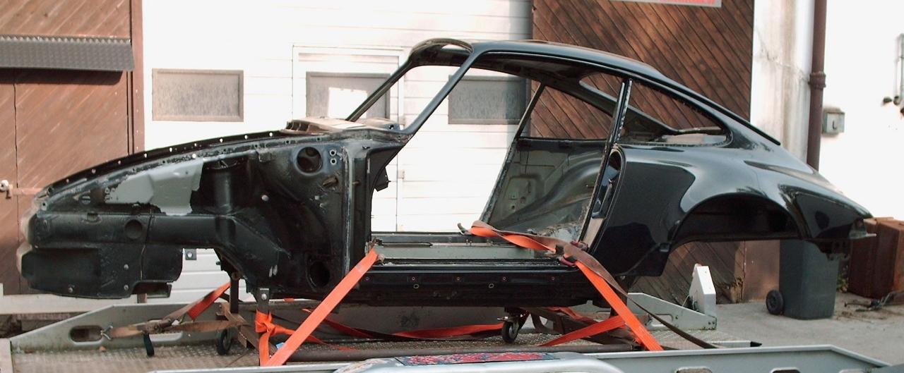 Porsche-Anlieferung