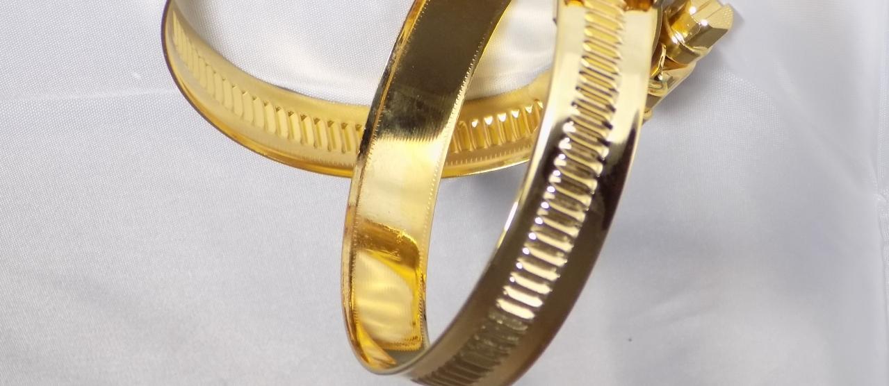 24k vergoldete Schlauchschelle